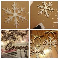 glue ornaments using a sheet of wax paper apply a thin layer