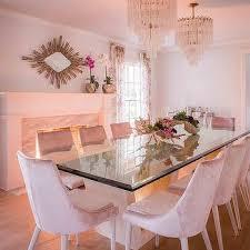 Pink Dining Room Chairs Mumbo Jumbo Aluminum Nickel Side Table