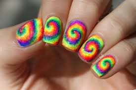neon tie dye nail art tutorial by knailart youtube
