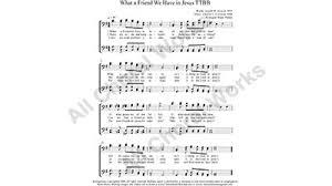 what a friend we in jesus choir sheet ttbb 4 part