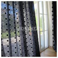 Navy Blue Sheer Curtains Navy Blue Sheer Tulle Curtain Panels Embroidered Broderie