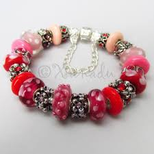 murano beads bracelet images Authentic pandora sterling silver charm bracelet w red pink jpg