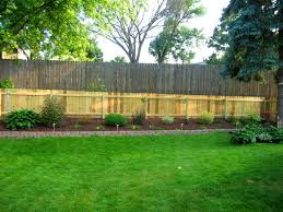 furniture charming landscaping ideas for backyard fencing