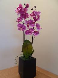 Artificial Orchids Artificial Flowers Large Pink Orchid Artificial Plant In A 12cm