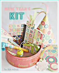 new years kits make a journal party kit journal and note