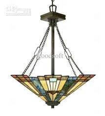 Stained Glass Pendant Light Style Stained Glass Pendant Light With 2 Lights Glass