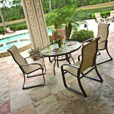 Patio Tile Flooring by Exterior Enchanting Sling Patio Furniture Sets By Woodard