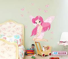 Fairy Princess Butterfly Fairy Wall Stickers For Kids Rooms DIY - Cheap wall stickers for kids rooms