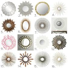 Mirrors For Walls by Decorating Round Gold Sunburst Mirror For Pretty Wall Decoration