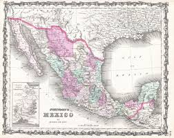 Texas Mexico Border Map by File 1862 Johnson Map Of Mexico And Texas Geographicus Mexico
