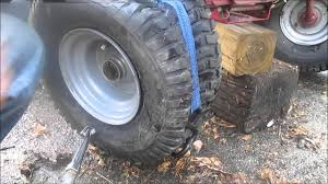 Awesome 13x5 00 6 Tire And Rim Putting Lawn Tractor Tire Back On Rim Using Ratchet Strap Youtube