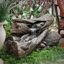diy rock water feature backyard design ideas rock water fountain