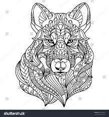 wildlife coloring book wolf coloring book adults stock vector 635693078 shutterstock