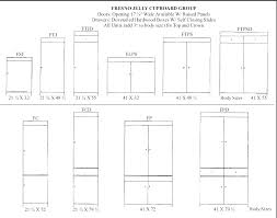 Cabinet Door Sizes Dimensions Of Kitchen Cabinet To Dimension Cabinets In The