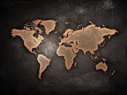 World Map Silhouette Silhouette In The Night World Map Wallpaper Just Blind Collection