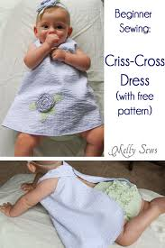 criss cross dress tutorial with free pattern by free pattern