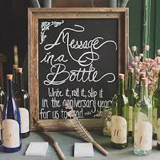 message in a bottle wedding time capsule wedding guestbook ideas brides