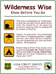 wilderness net signs and posters toolbox