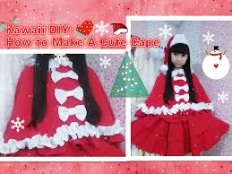 christmas diy how to sew a cape easy fashion youtube