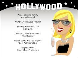 Hollywood Invitation Card Hollywood Archives Personalized Stationery Invitations