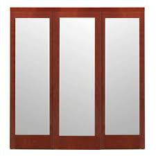 Solid Core Interior Doors Home Depot Impact Plus 48 In X 80 In Mir Mel Mirror Solid Core Espresso Mdf