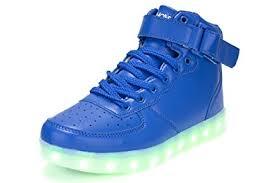 big kids light up shoes amazon com light up shoes hoverkicks big kids super nova blue