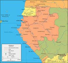 gabon in world map gabon map and satellite image