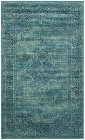 Vintage Rugs Cheap Decorating Turquoise Power Loomed Vintage Area Rugs Vtg112 2220