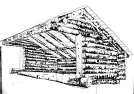 september 2014 hilary lorenz 8 x 6 ink drawing of lean to by hilary lorenz
