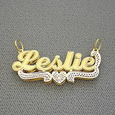 gold name plates junior size personalized gold name pendant with diamond 3d