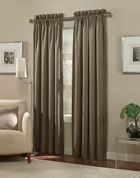Small Bedroom Window Treatment Ideas Curtains And Drapes Brown Linen Window Curtain Light Painted