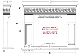 Standard Fireplace Dimensions by Taunton Classic Stone Fireplace Mantel Mantelsdirect Com
