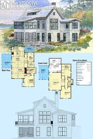 hillside house plans for sloping lots 25 best architectural design house plans ideas on pinterest