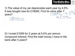 compound interest practice questions and answers youtube