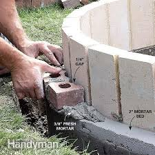 Round Brick Fire Pit Design - delightful design bricks for fire pit astonishing 1000 ideas about