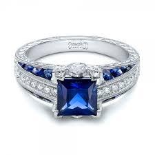 diamond rings sapphire images Sapphire diamond engagement rings white house designs jpg