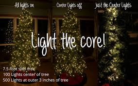 how many christmas lights per foot of tree how to light a christmas tree light the core