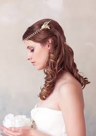 headdress for wedding gold pearl chain wrap headband pearl halo bridal halo