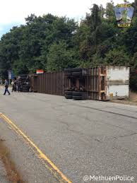 driver escapes injury in methuen tractor trailer rollover news