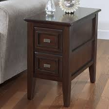 wood end tables with drawers innovative small dark wood side table with drawer ideas modern