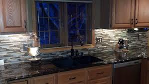 stone backsplash for kitchen modest design glass and stone tile backsplash kitchen black and