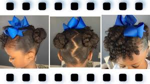 mini buns w curly bang tutorial kids natural hairstyle iamawog