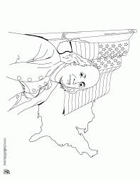 Benjamin Franklin And Us Flag Coloring Page Coloring Home Franklin Coloring Pages