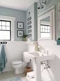 blue bathroom white wood panelling to make light blue bathroom more airy home