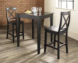 dining room appealing dark wood bistro table set with concrete