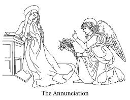 the annunciation angel appears to mary coloring pages bulk color