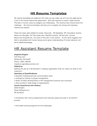 Resume Objectives Sample For Hrm by Human Resources Manager Resume Sample Splixioo