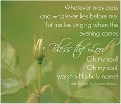 christian thanksgiving songs bless the lord oh my soul matt redman ten thousand reasons