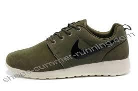 rosch runs nike 63 nike roshe run suede mens army green white black