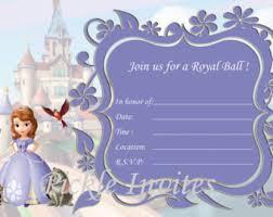 sofia the birthday princess birthday invitation blank templates